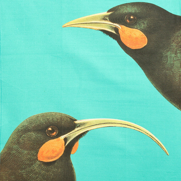 Bird Tea Towel Huia Cyan