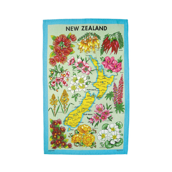 Floral NZ Tea Towel
