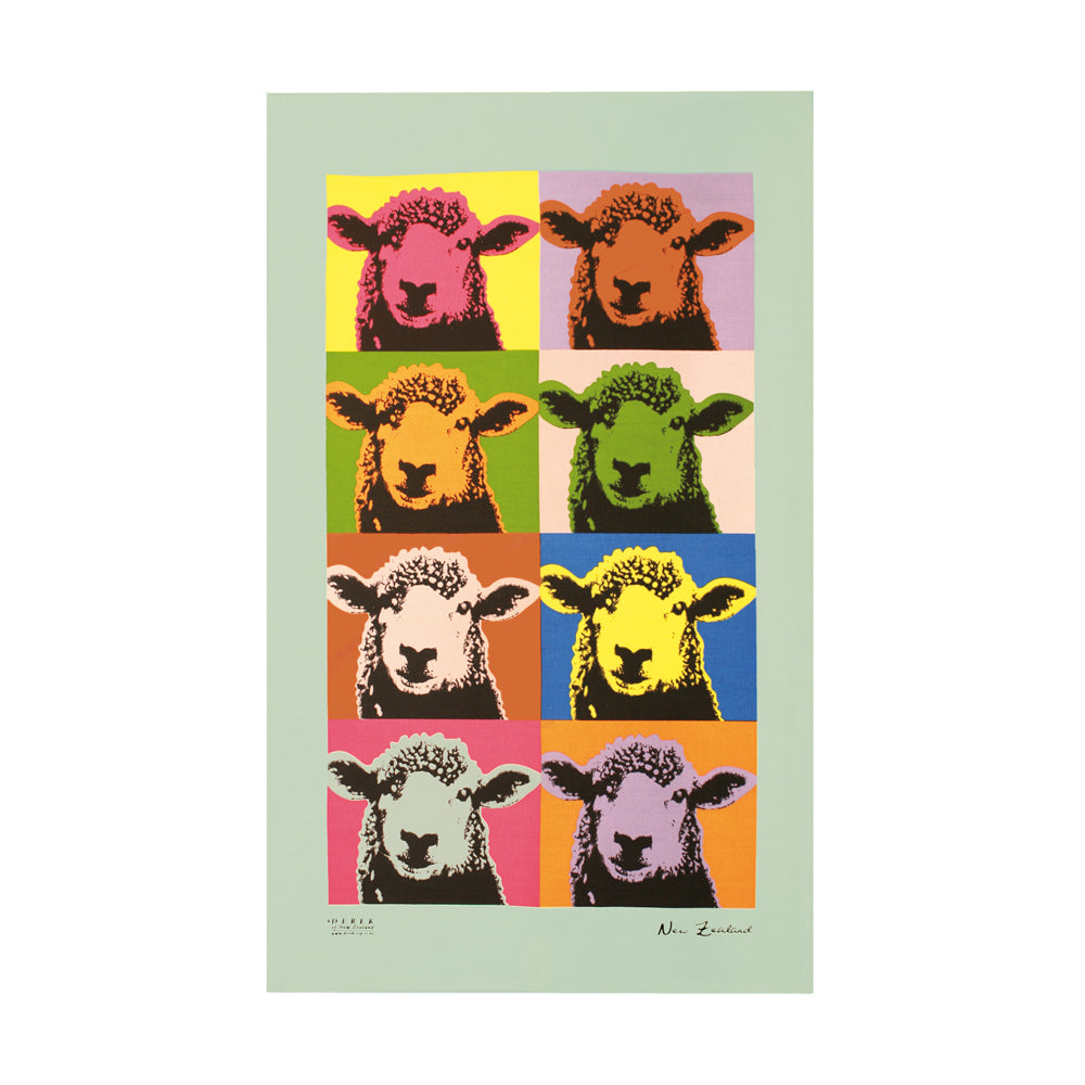 Pop Art Sheep Tea Towel