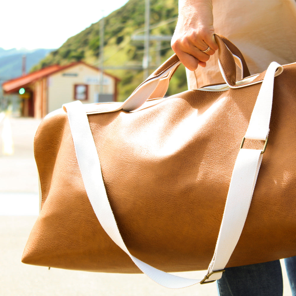 Moana Road Whangamata Overnight Bag Tan