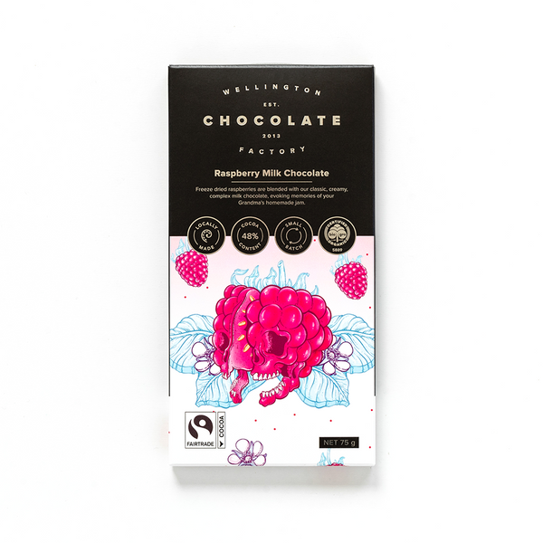 Wellington Chocolate Factory Raspberry Milk Bar 75g