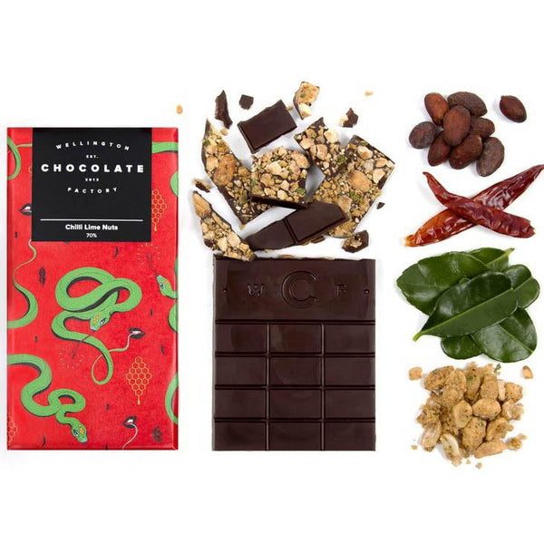 Wellington Chocolate Factory Chilli Lime Nuts 75g