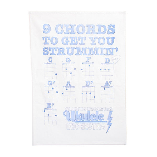 Wellington International Ukulele Orchestra Tea Towel