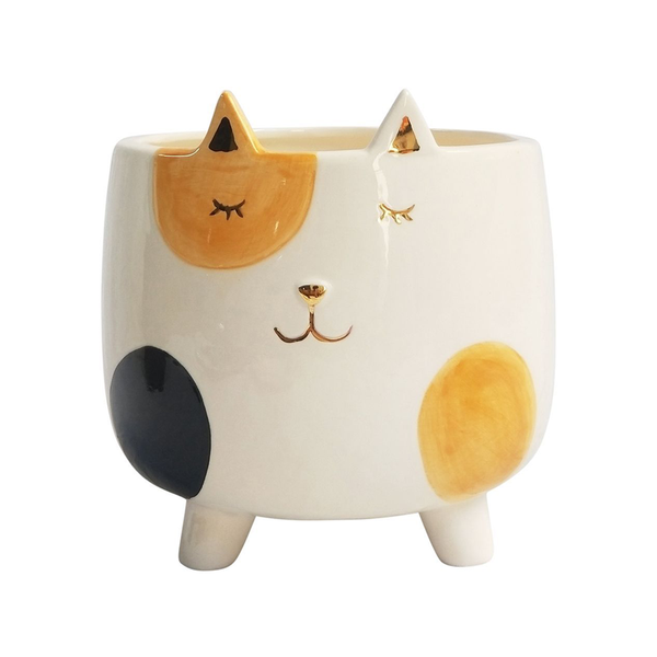 Spotty Cat Footed Planter Medium