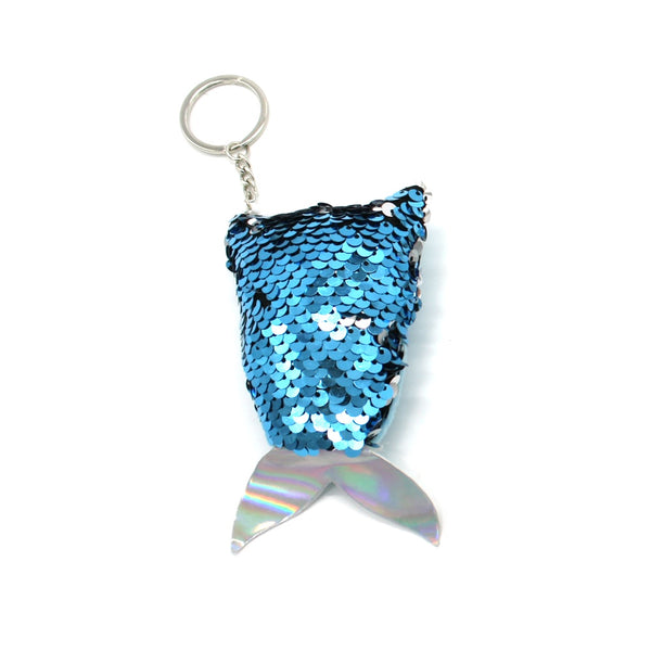Reversible Sequin Mermaid Tail Keyring Assorted