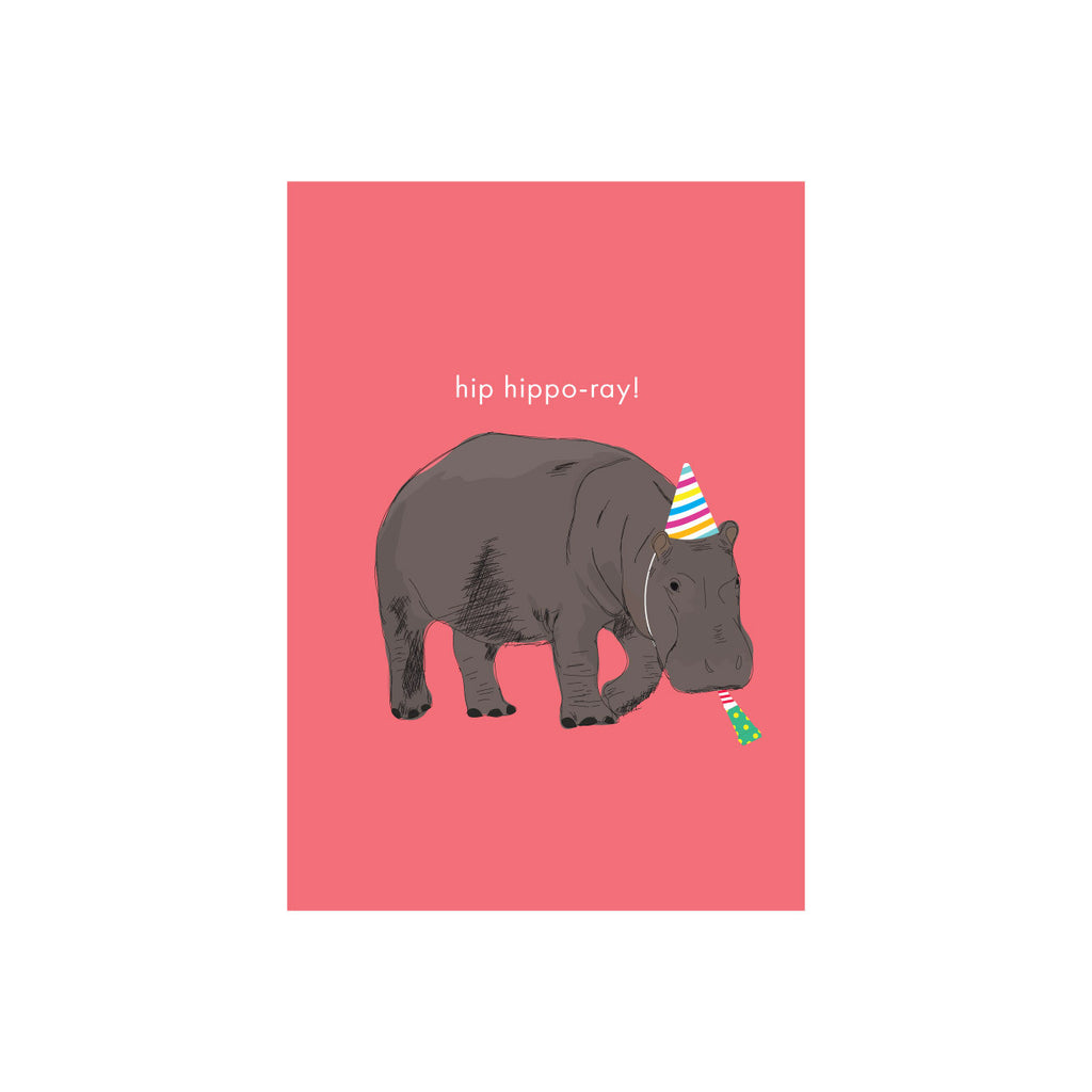 Iko Iko Animal Pun Card Hippo