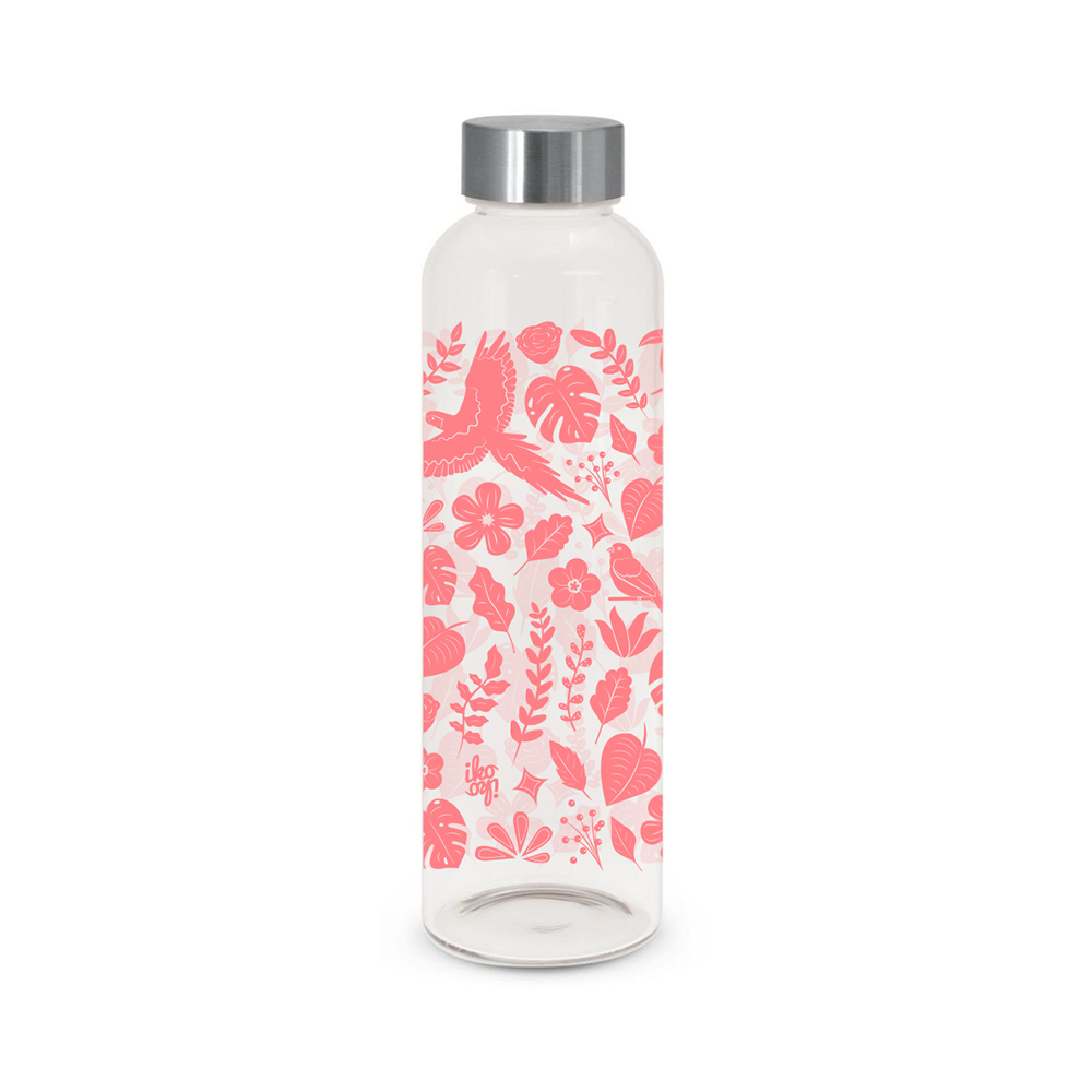 Iko Iko Flora Glass Bottle Tropical Coral