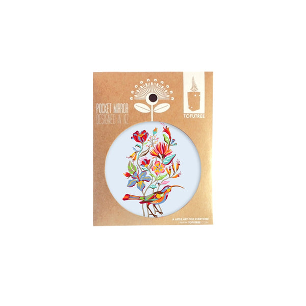 Tofutree Pocket Mirror Huia & Flora