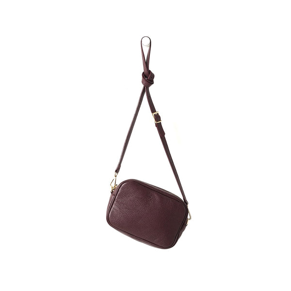 Citta Dixon Leather Handbag Merlot