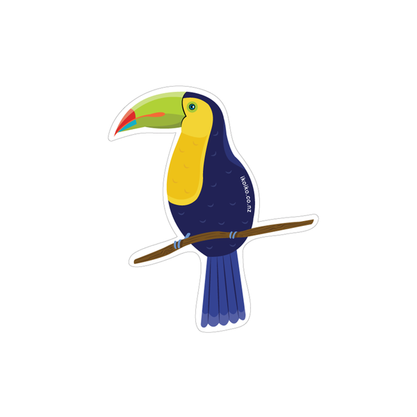 Iko Iko Fun Size Sticker Toucan