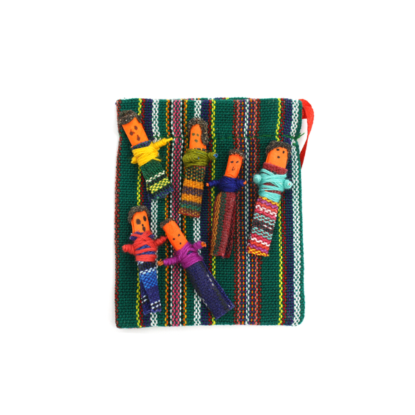 Mini Guatemalan Worry Dolls Set of Six