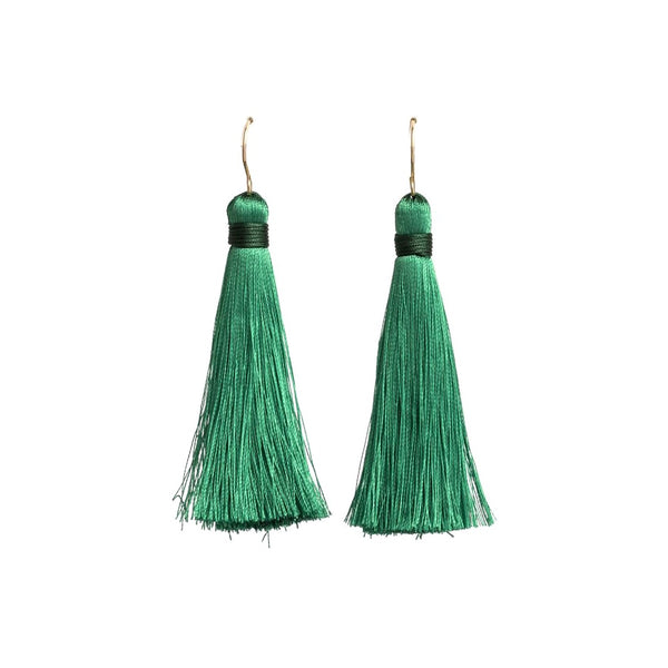 Iko Iko Fun Times Earrings Tassel Green Gold