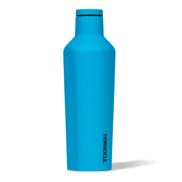 Corkcicle Canteen Drink Bottle 16oz Neon Blue