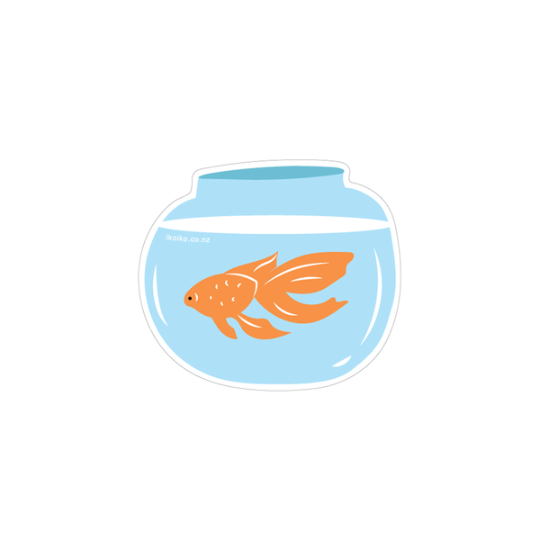 Iko Iko Fun Size Sticker Goldfish