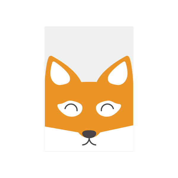 Iko Iko Kids Animal Card Fox