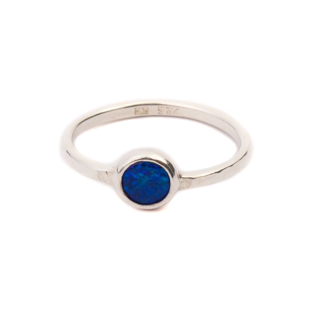 Kerry Rocks Solitaire Ring Opal Silver