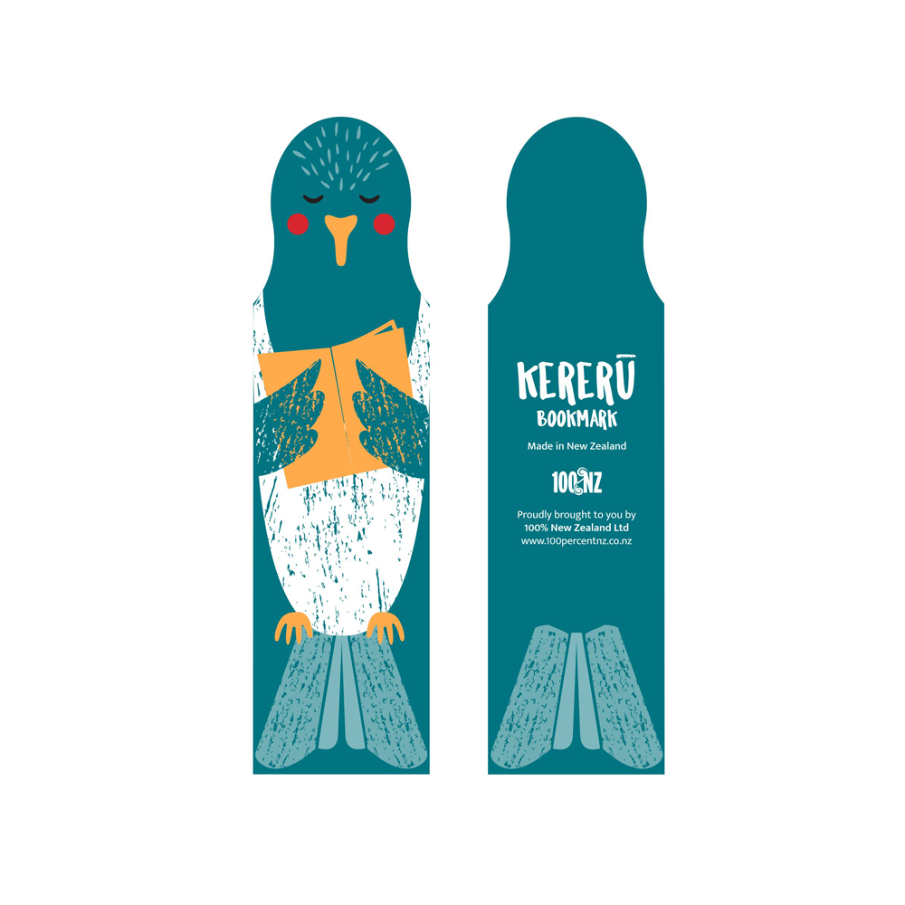 100% NZ Cuties Bookmark Kereru