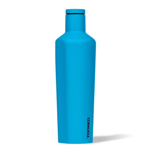 Corkcicle Canteen Drink Bottle 25oz Neon Blue