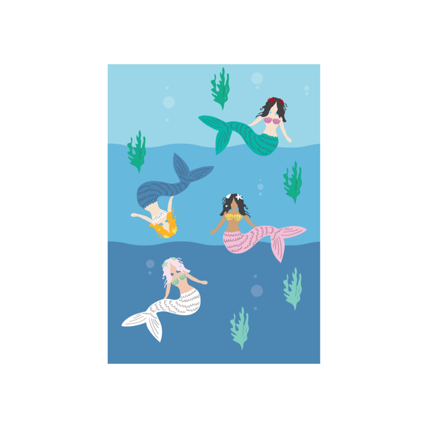 Greeting cards kids iko iko iko iko kids card mermaid m4hsunfo
