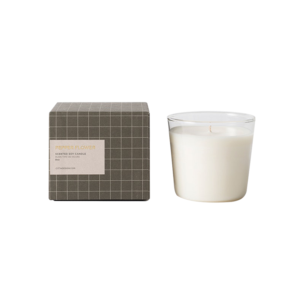 Citta Scented Soy Candle Pepper Flower