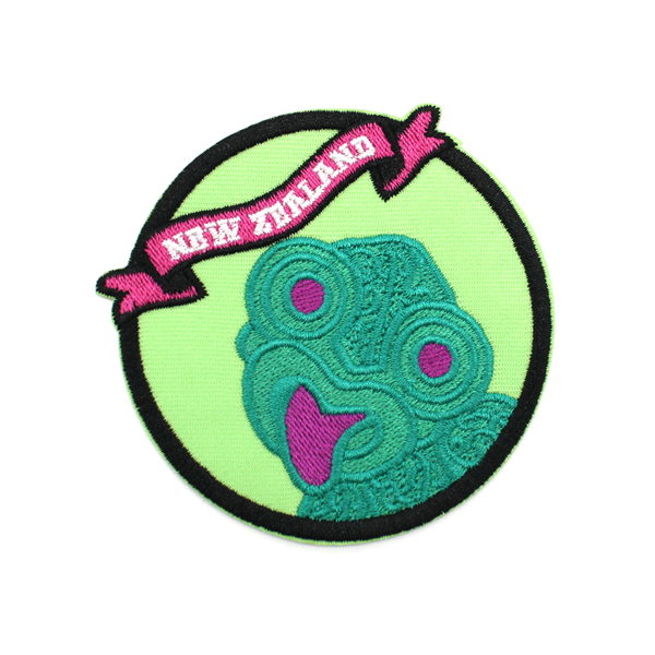 New Zealand Iron on Patch Tiki