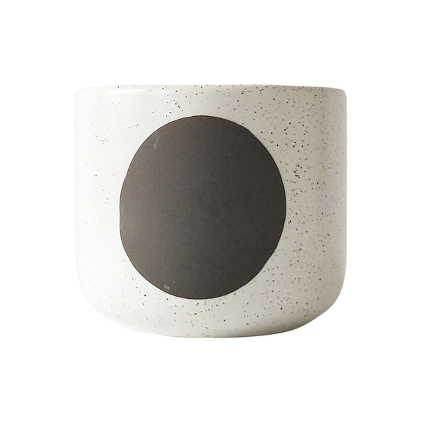 Luma Planter White Brown Small