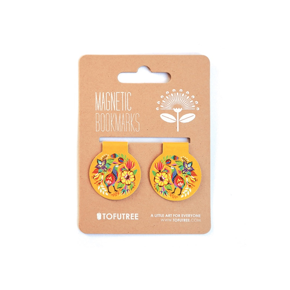 Tofutree Magnetic Bookmark Set Kiwi & Flora