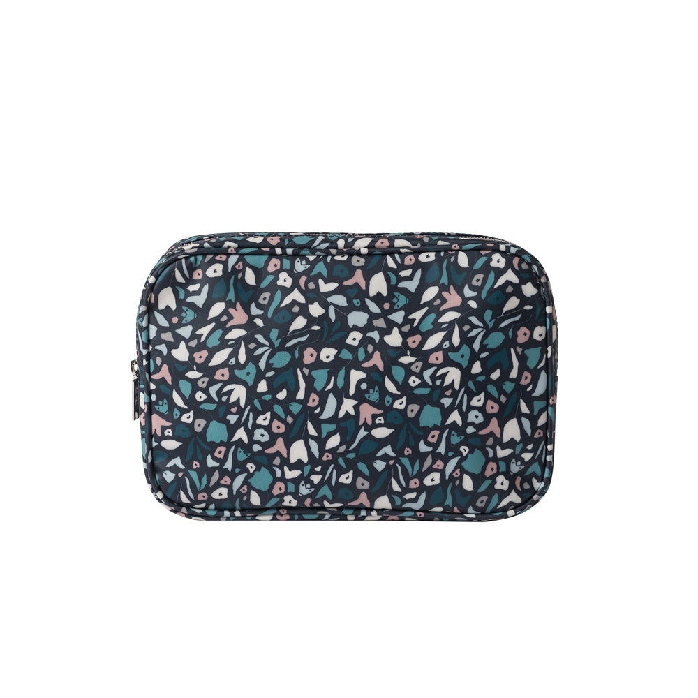 Citta Meadow Coated Wash Bag Purse Navy Multi