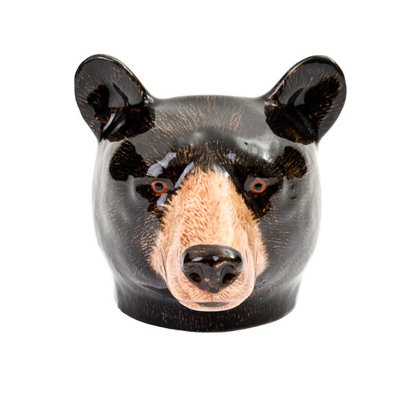 Quail Black Bear Face Egg Cup