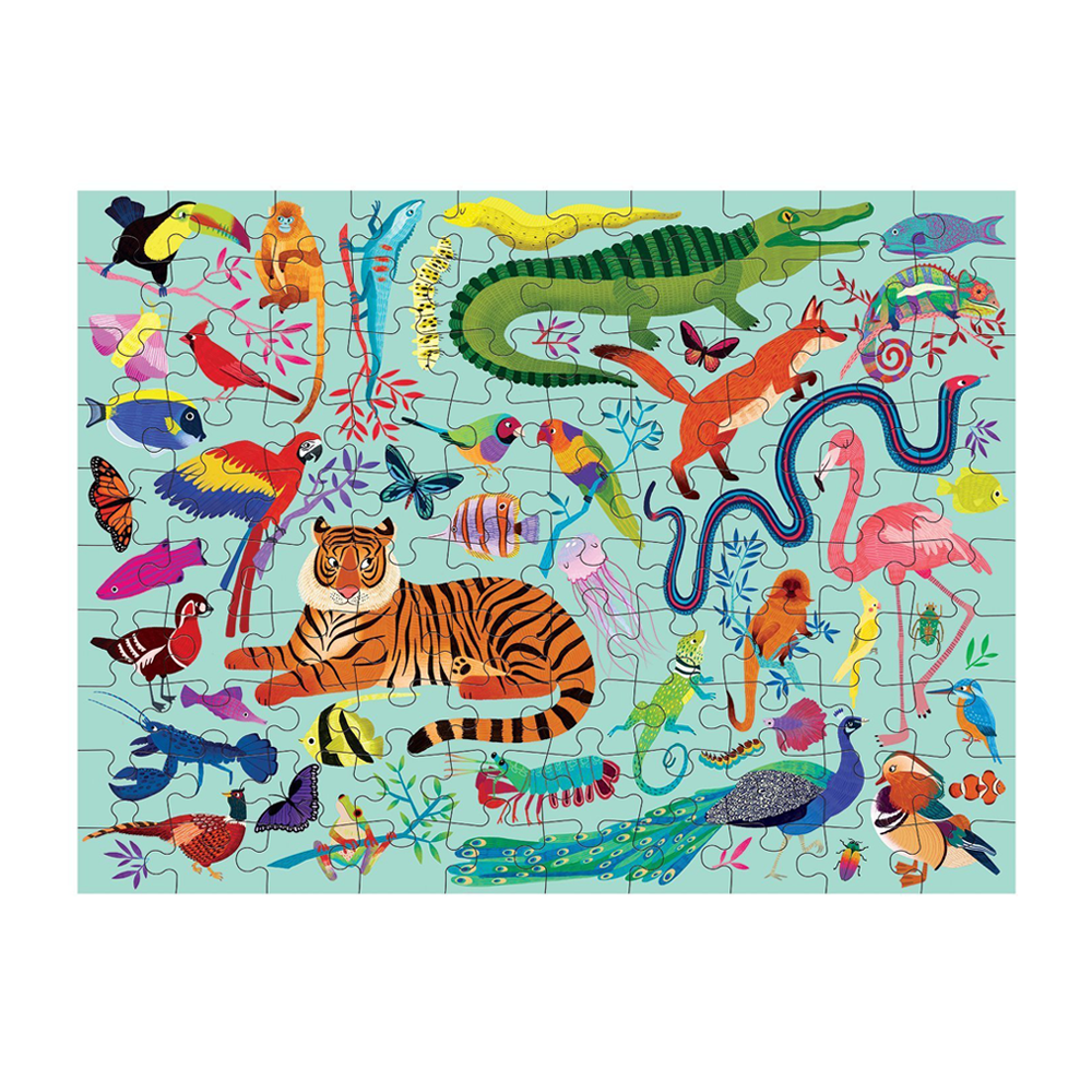 Mudpuppy Double Sided Puzzle Animal Kingdom