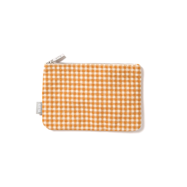 Citta Gingham Flat Purse