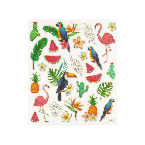 Toucan and Flamingo Stickers