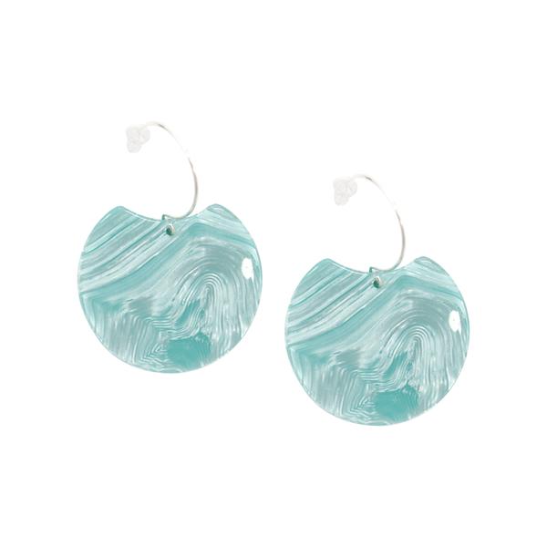 Penny Foggo Earrings Swirl Moon Light Blue