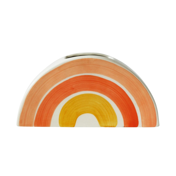Skyla Rainbow Wall Planter Orange White