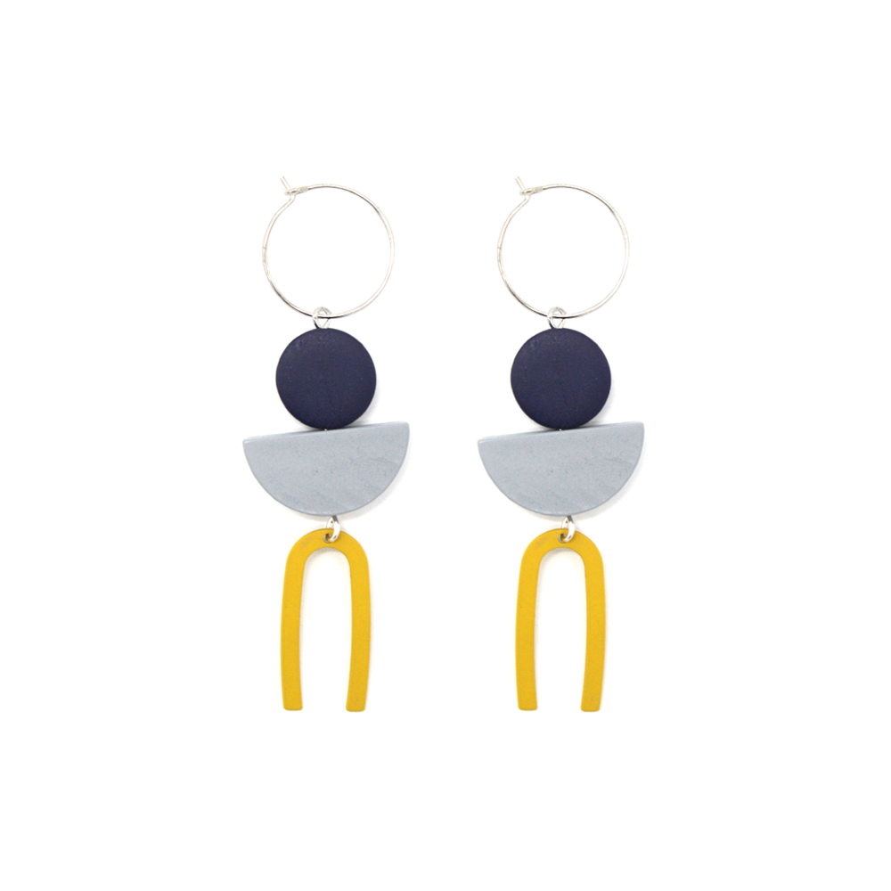 Penny Foggo Earrings Small Metal U Yellow
