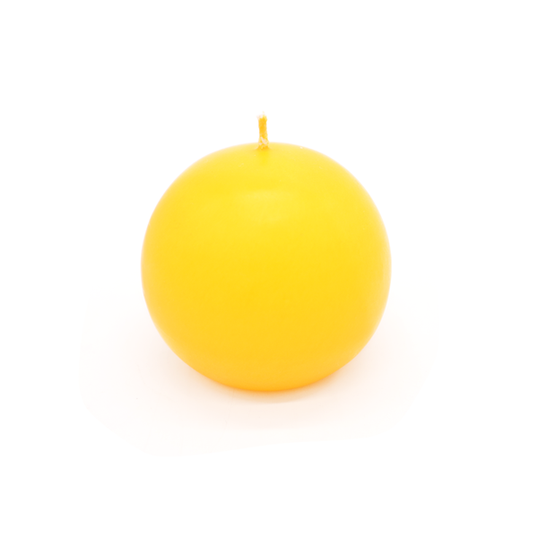 Ball Candle Large Yellow