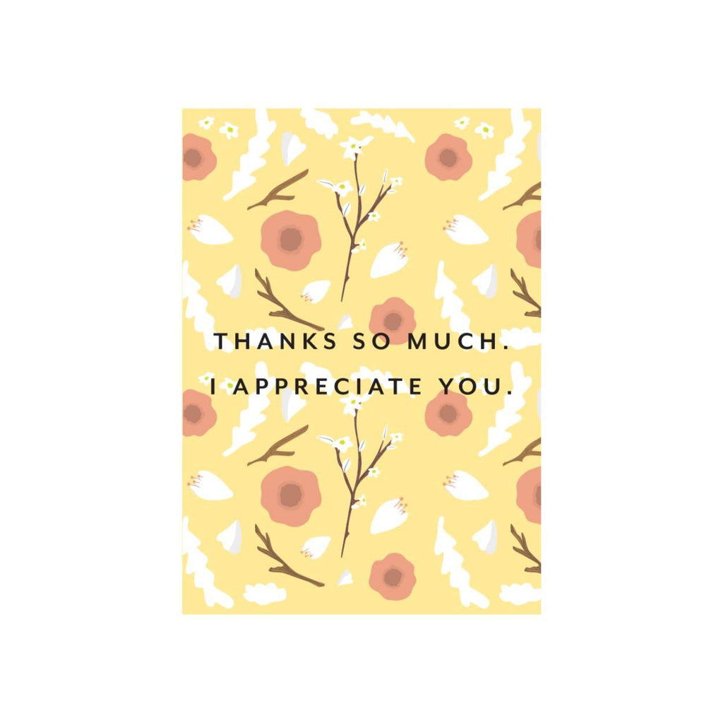 Iko Iko Floral Card Thanks