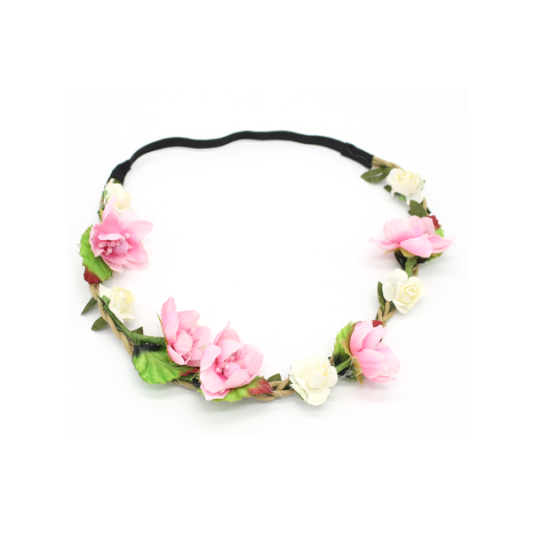 Flower Crown Headband Soft Pink