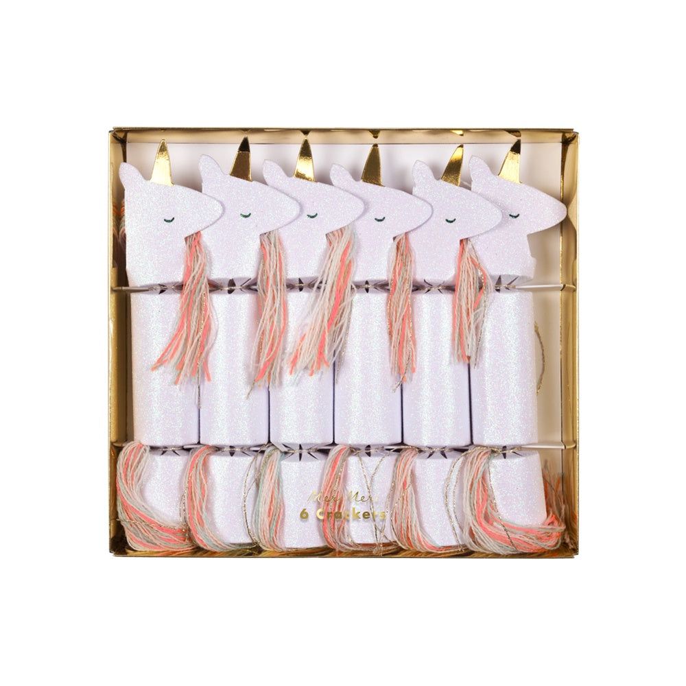 Meri Meri Christmas Crackers Pack of 6 Unicorn