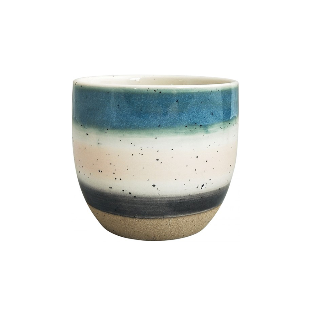 Veio Planter Blue and Beige