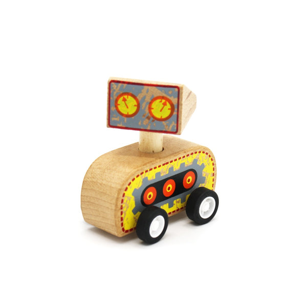 Wooden Pull Back Robot