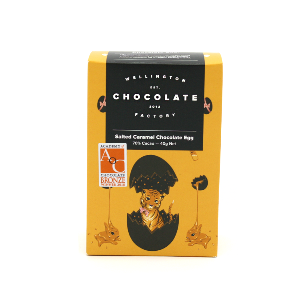 Wellington Chocolate Factory Salted Brittle Caramel Easter Egg 40g