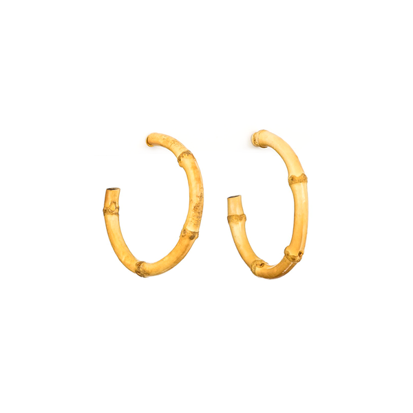 Stella + Gemma Earrings Bamboo Hoops