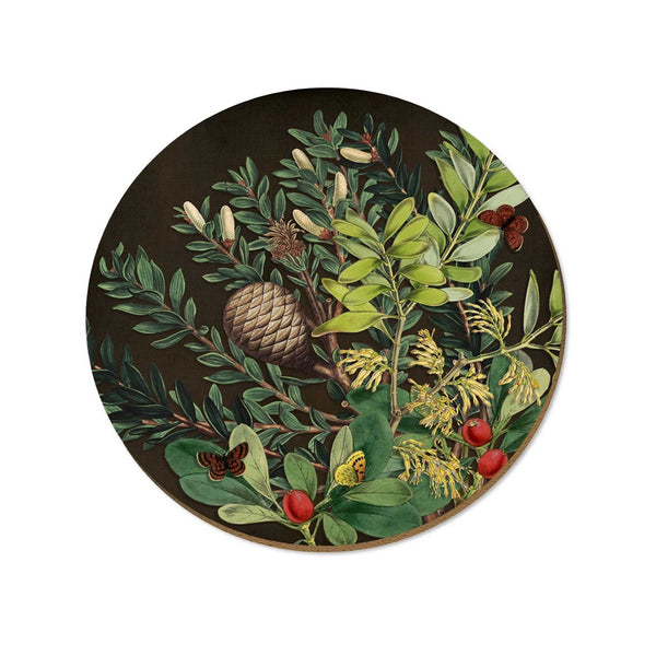 New Zealand Placemat Pinecone and Berries
