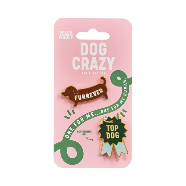 Wild & Woofy Pin and Tag Set Dog