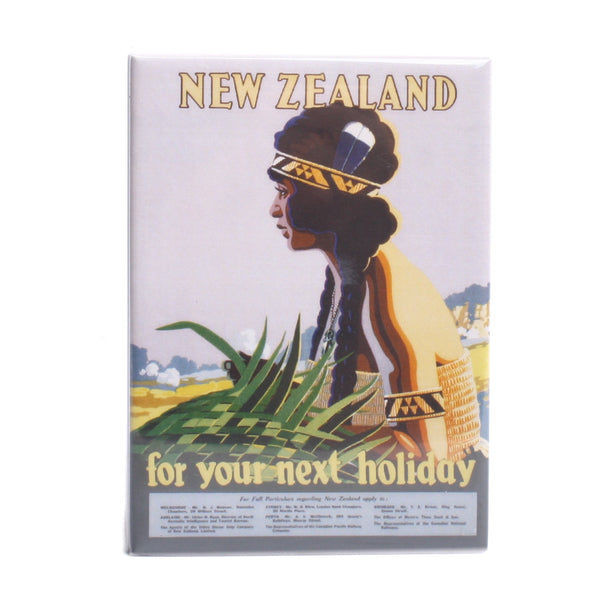 NZ Retro Fridge Magnet Holiday