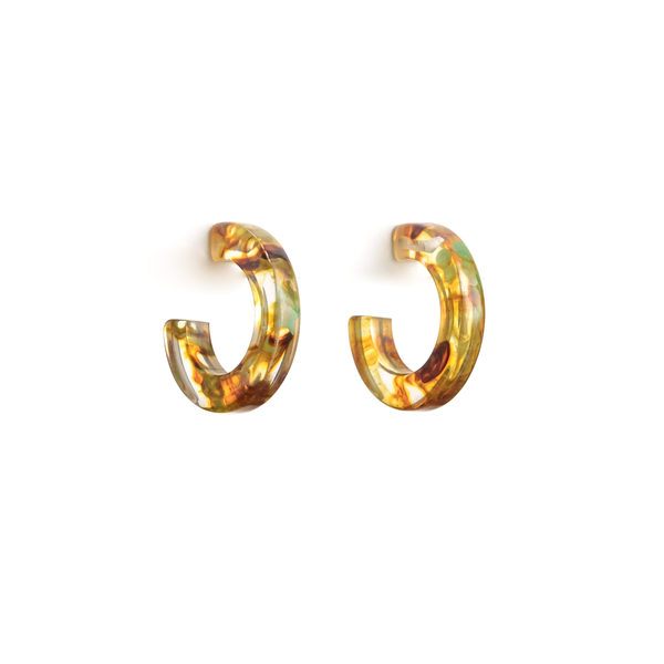 Stella + Gemma Earrings Astrid Hoop Amber
