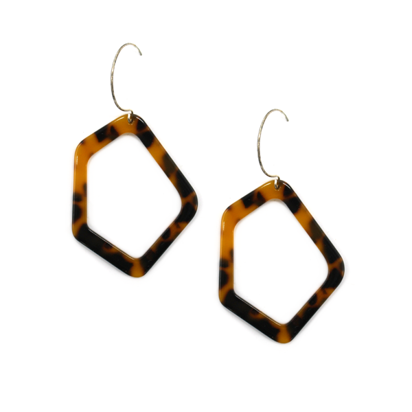 Penny Foggo Earrings Tortoiseshell Wonky Ovals