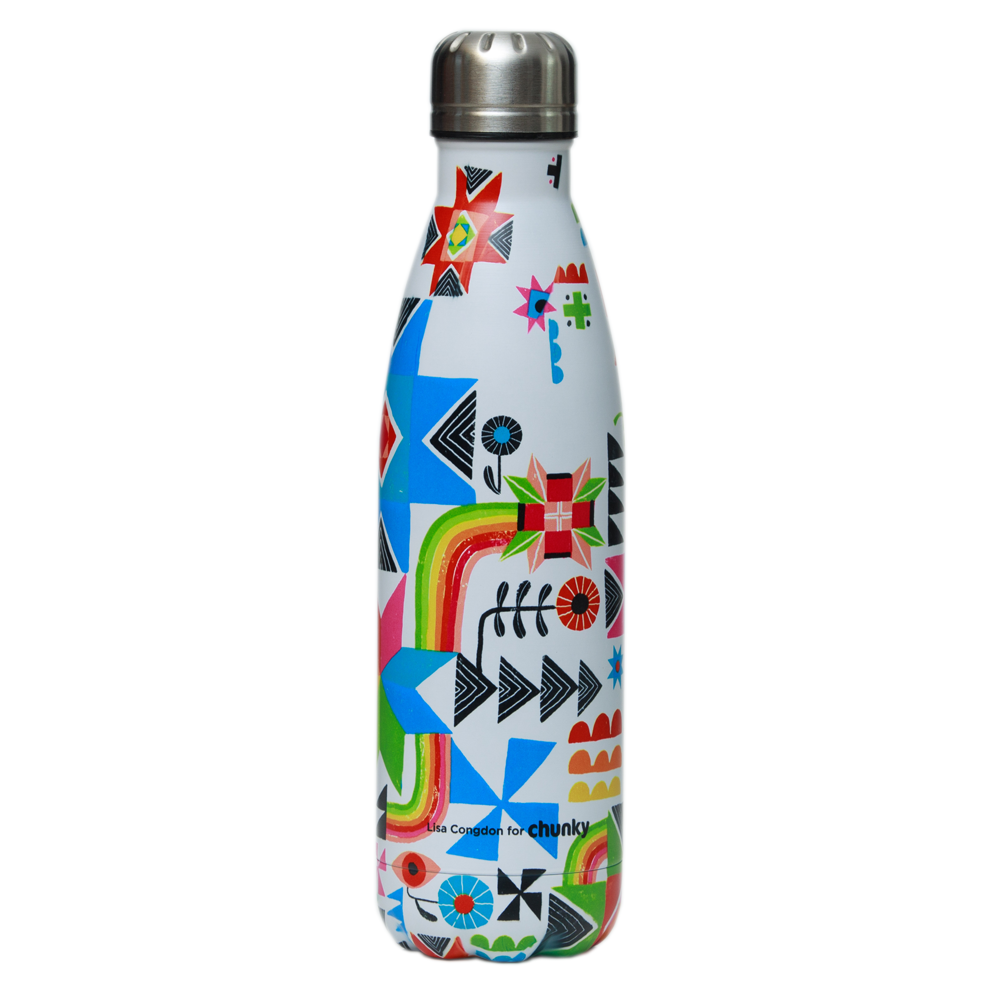 Chunky Bottle 500ml Lisa Congdon The Future is Bright