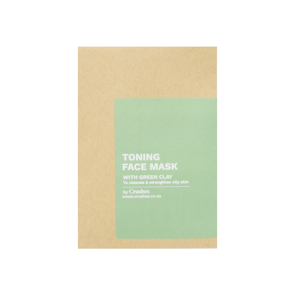 Crushes Toning Green Clay Face Mask Single